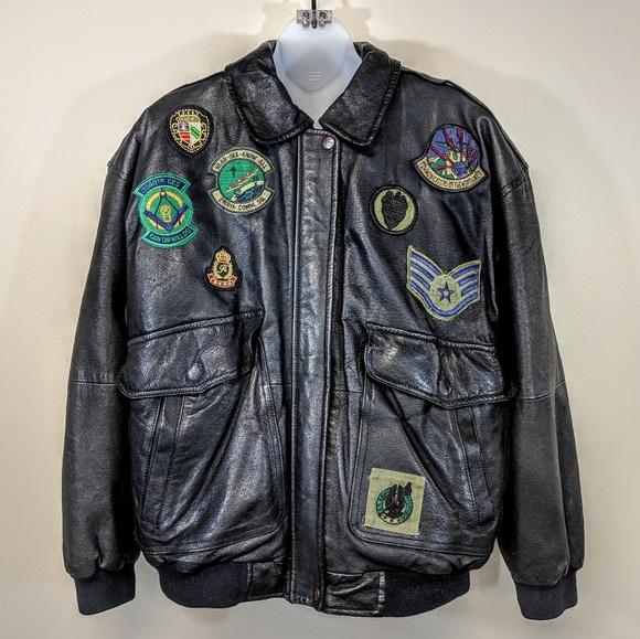 Other - Custom Leather Aviator Jacket